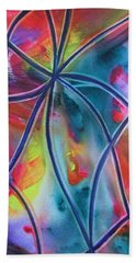 Faux Stained Glass 1 Beach Towel