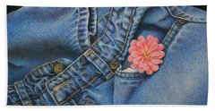 Beach Towel featuring the painting Favorite Jeans by Pamela Clements