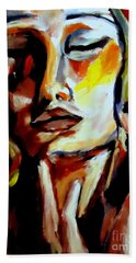 Beach Towel featuring the painting Feel by Helena Wierzbicki