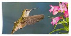 Female Broad-tailed Hummingbirds Beach Towel