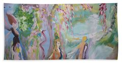 Beach Towel featuring the painting Female Persuasion by Judith Desrosiers