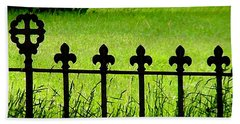 Fence And Cross Beach Towel