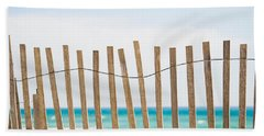 Fence On The Beach Beach Towel by Shelby  Young