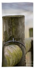 Fence Post Beach Sheet by Kerri Farley