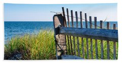 Fence With A Great View Beach Sheet by Mike Ste Marie