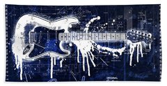 Fender Blueprint Washout Beach Sheet by Gary Bodnar