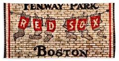 Fenway Park Boston Redsox Sign Beach Towel