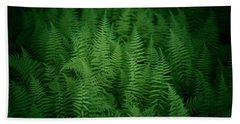 Fern Bed Beach Sheet by Shane Holsclaw