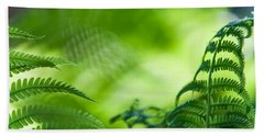 Fern Leaves. Healing Art Beach Towel