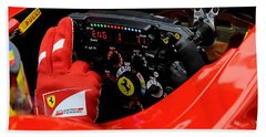 Ferrari Formula 1 Cockpit Beach Sheet