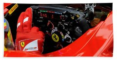 Ferrari Formula 1 Cockpit Beach Towel