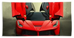 Ferrari Laferrari F 150 Supercar Beach Sheet by Movie Poster Prints
