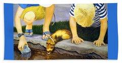 Ferret And Friends Beach Towel