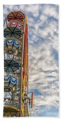 Ferris Wheel Beach Towel by Antony McAulay