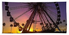 Beach Towel featuring the photograph Ferris Wheel by Chris Tarpening