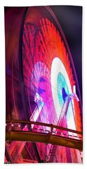 Ferris Wheel Beach Towel by Gandz Photography