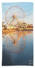 Ferris Wheel Jersey Shore 2 Beach Sheet