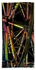 Beach Sheet featuring the photograph Lit Ferris Wheel  by Lilliana Mendez
