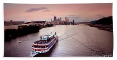 Ferry Boat At The Point In Pittsburgh Pa Beach Towel