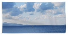 Ferry On Time Beach Towel by George Katechis