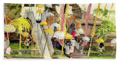 Festival Hindu Ceremony Beach Towel