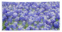 Field Of Bluebonnets Beach Towel by Kathy Churchman