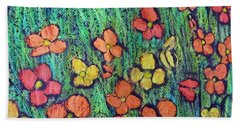 Field Of Flowers Beach Sheet by Elvira Ingram