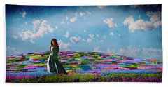 Field Of Flowers... Beach Towel by Tim Fillingim