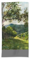 Field Of Light At Caribou Ranch Beach Towel