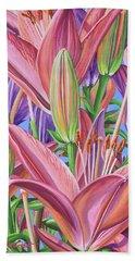 Field Of Lilies Beach Sheet
