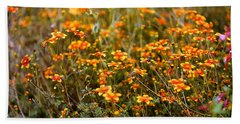 Field Of Wildflowers Beach Towel