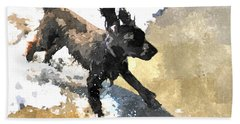 Field Spaniel Joy Beach Sheet by Susan Molnar
