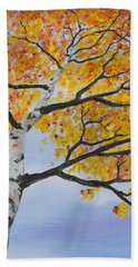 Fiery Aspen Beach Towel