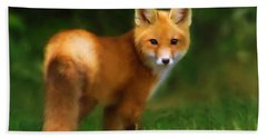 Fiery Fox Beach Towel