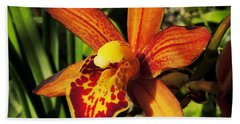 Fiery Orchid Beach Towel by Kristine Merc