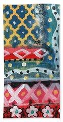 Fiesta 4- Colorful Pattern Painting Beach Towel