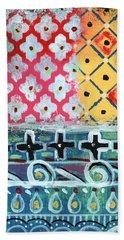 Fiesta 6- Colorful Pattern Painting Beach Towel