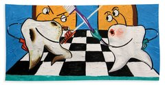 Fighting Tooth Decay Beach Towel