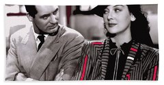 Film Homage Cary Grant Rosalind Russell Howard Hawks His Girl Friday 1940-2008 Beach Towel