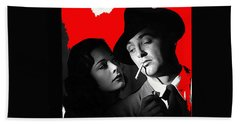 Film Noir Jane Greer Robert Mitchum Out Of The Past 1947 Rko Color Added 2012 Beach Towel