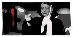Film Noir Joan Crawford Jack Palance Sudden Fear 1952 Rko Publicity Photo Color Added 2012 Beach Towel