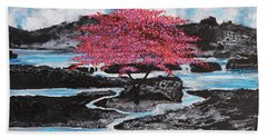 Finding Beauty In Solitude Beach Towel
