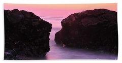 Fine Art Water And Rocks Beach Sheet