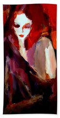 Beach Towel featuring the painting Finesse by Helena Wierzbicki
