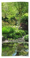 Finnerty Gardens Pond Beach Towel by Marilyn Wilson