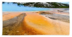 Fire And Ice - Grand Prismatic Spring In Yellowstone National Park. Beach Towel