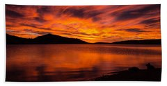 Fire At Dawn Beach Towel