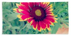 Fire Daisy Beach Towel