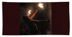 Fire Dancer Beach Towel