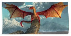 Fire Dragon Beach Towel by Daniel Eskridge